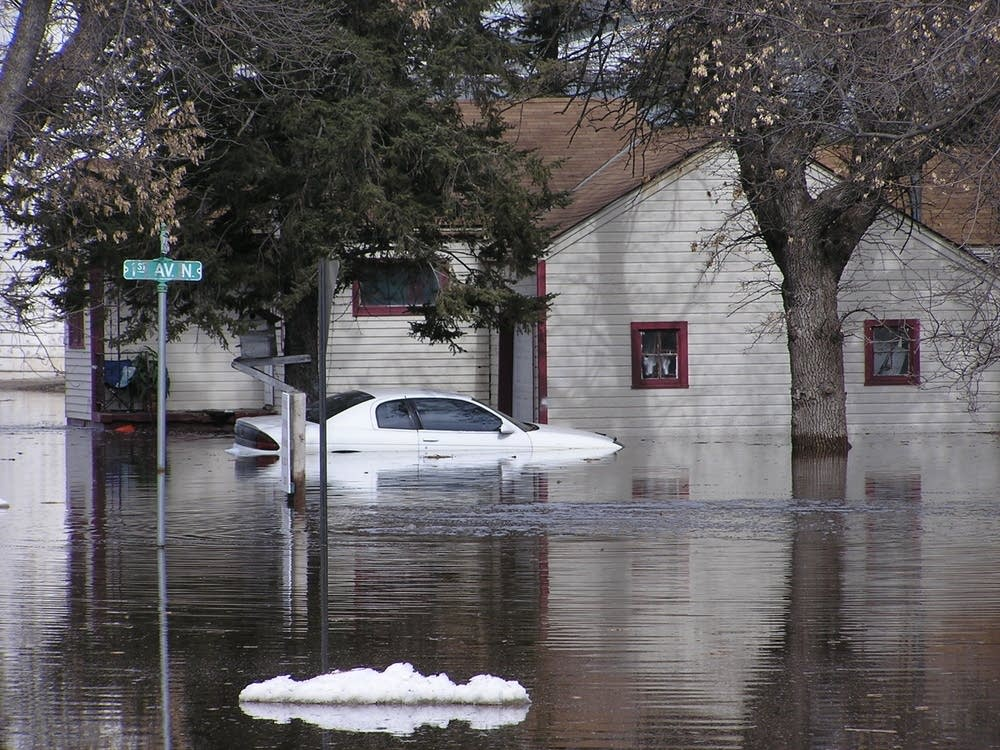 Flooded car in winter of 06-07