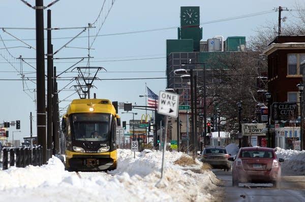 Light rail on University Ave.
