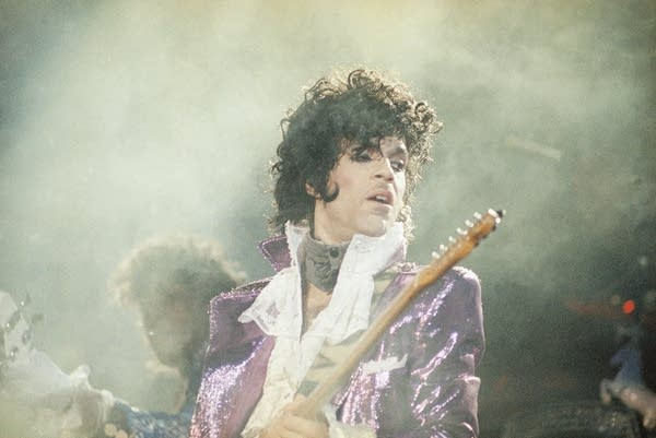 Prince performs in California in 1985.