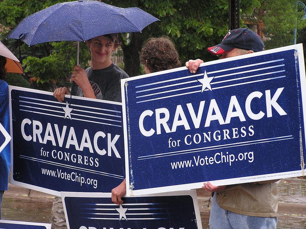 Cravaack supporters