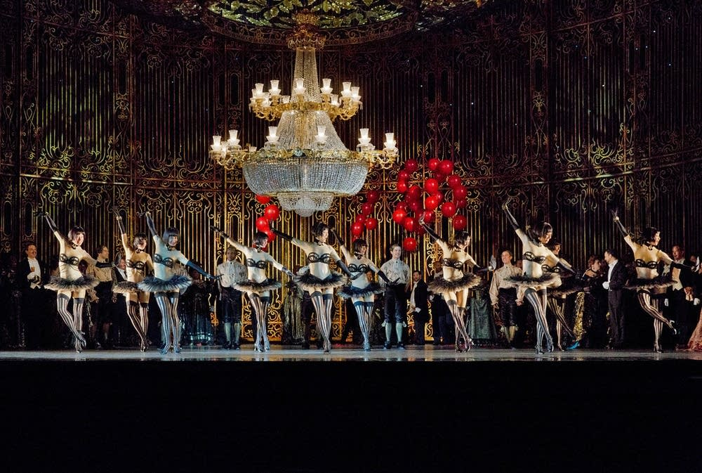 scene from the Act 2 ballet fledermaus