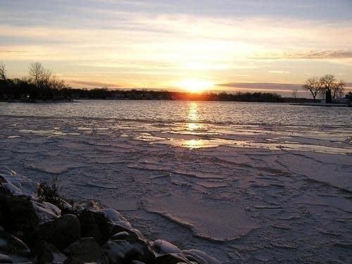 Lake Minnetonka winter sunset