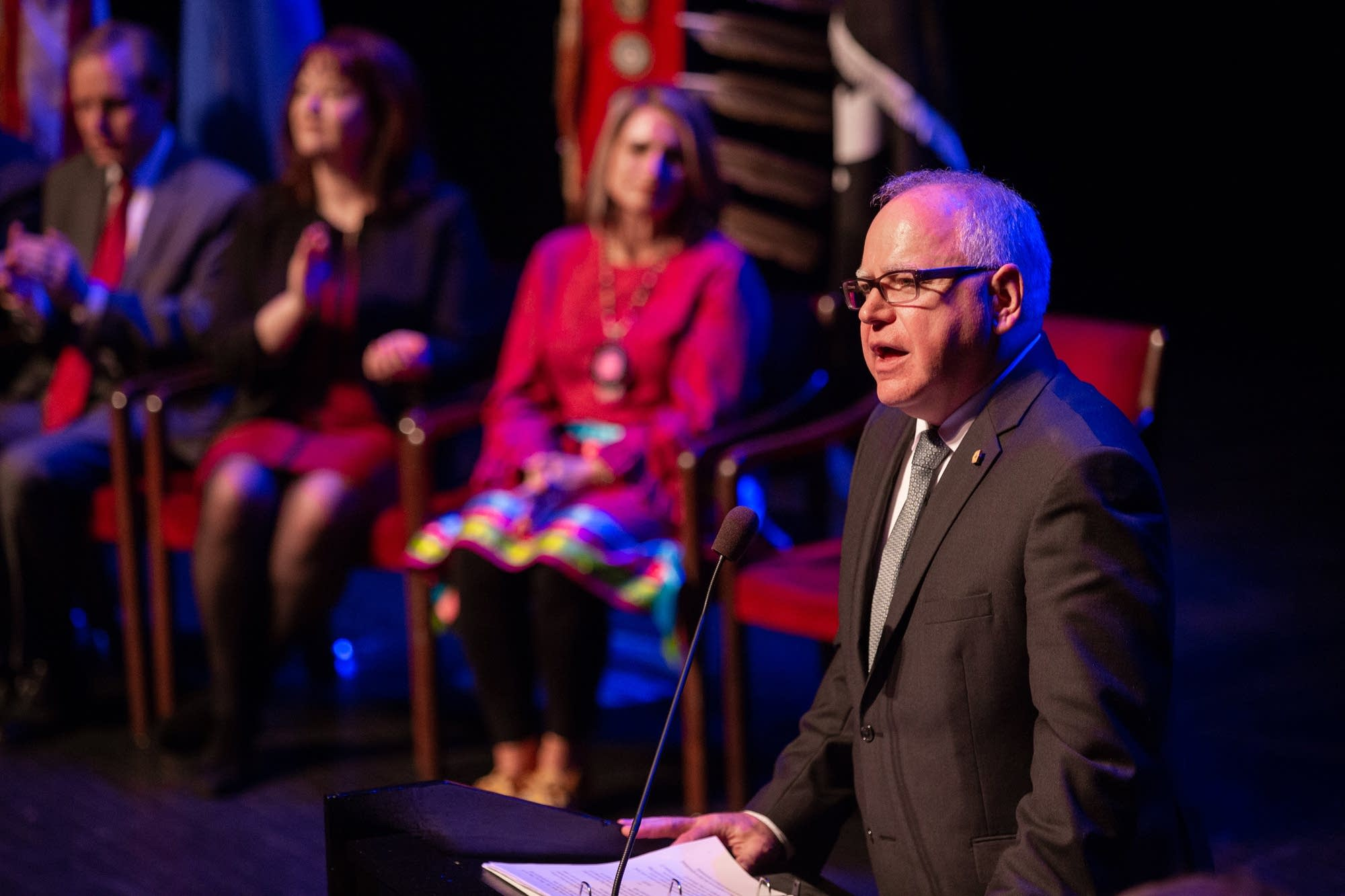 Governor Tim Walz delivers his inaugural address.