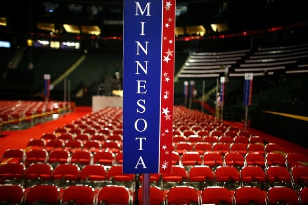 The Minnesota delegation area inside the Xcel