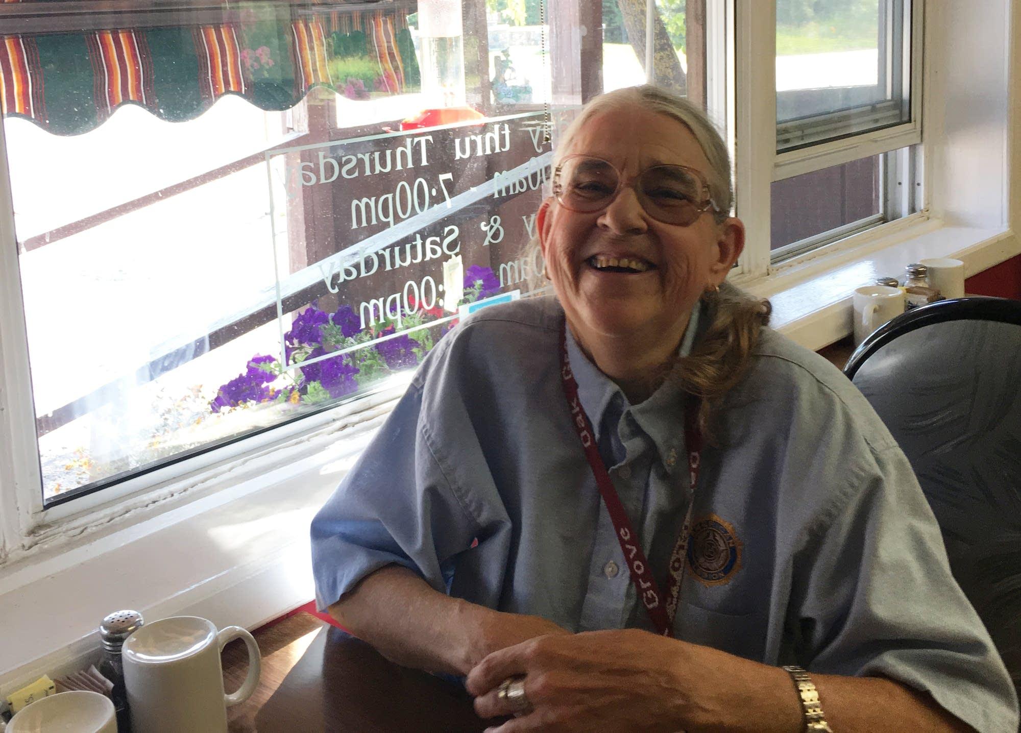 Retired nurse Gayle Heggem.