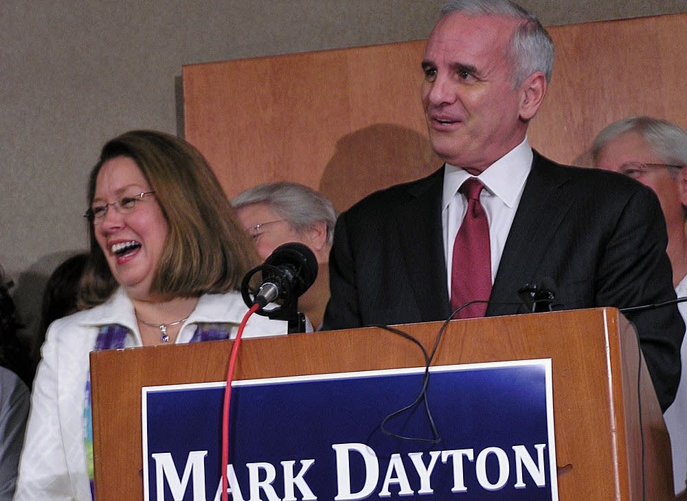 Dayton picks running mate