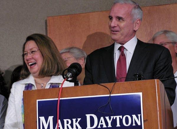 Dayton picks running mate