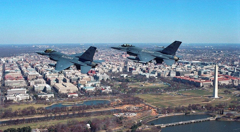 148th Fighter Wing jets over Washington, D.C.