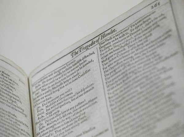 Shakespeare's First Folio sits on display
