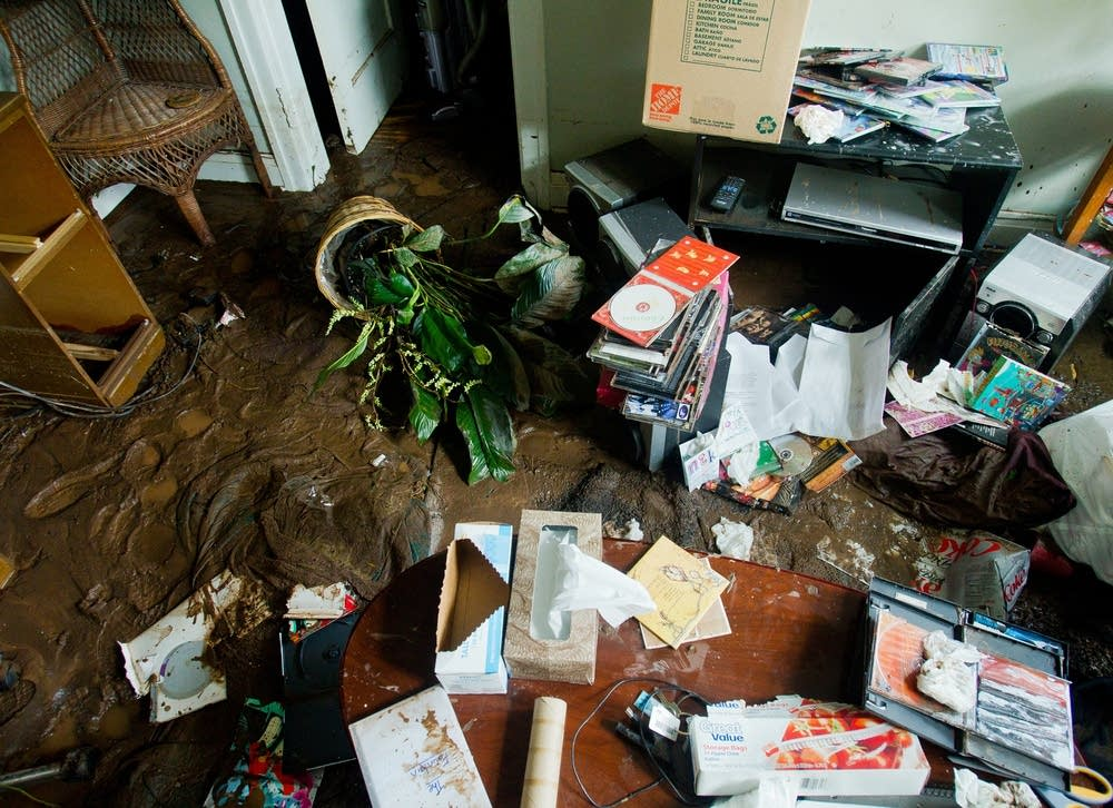 Flooded apartment