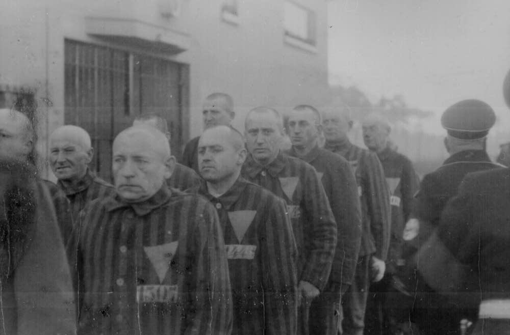 Gay prisoners in Sachsenhausen concentration camp