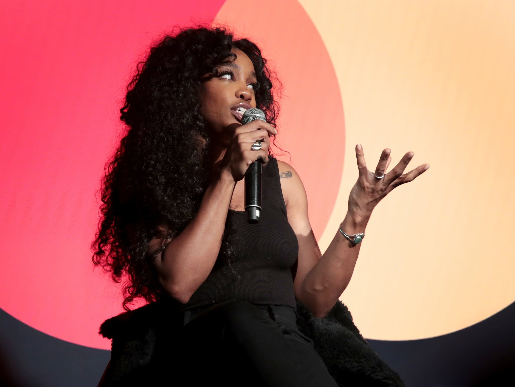SZA speaks in New York City, January 2018.