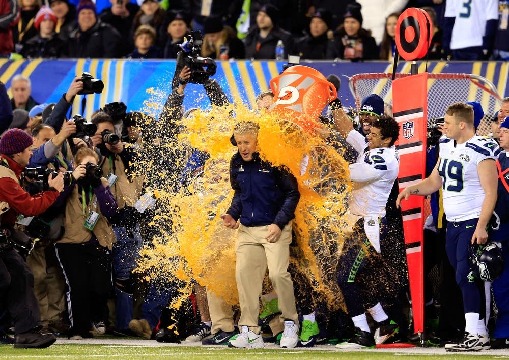 Seattle coach gets the Gatorade treatment