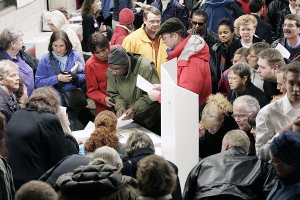Minnesota Democratic caucus goers