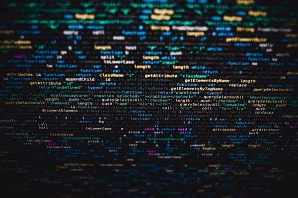 Code on a screen.