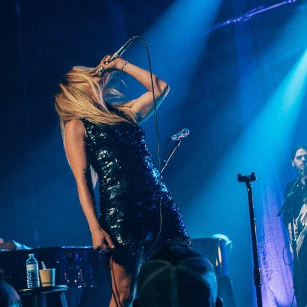 Margo Price performing at the Ryman Auditorium