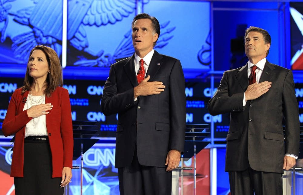 Michele Bachmann, Mitt Romney, Rick Perry