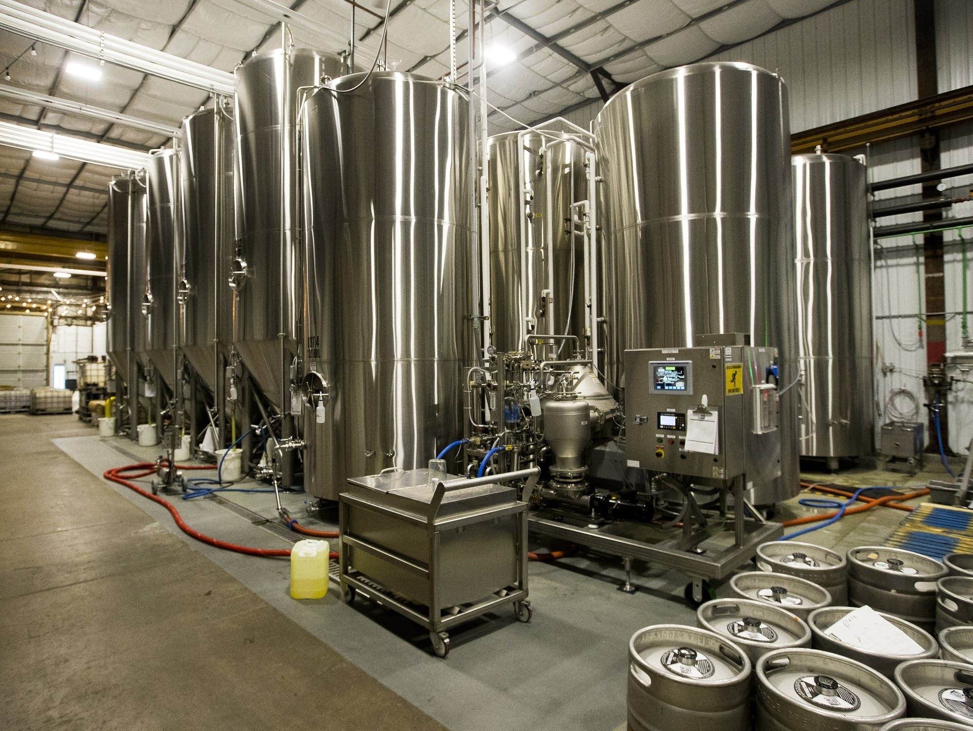 Bent Paddle's brew tanks