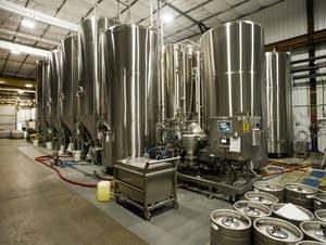Bent Paddle's brew tanks
