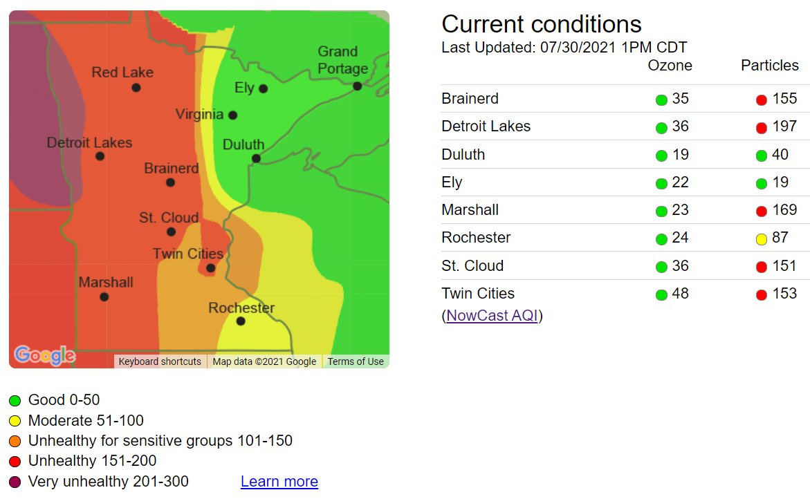 Air Quality Index Friday