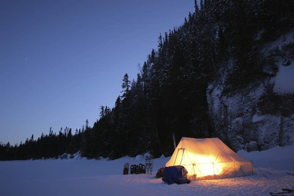 Camp on St. Ignace Island