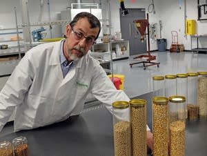 Specialist Joseph Kuznia explains the challenges of applying seed coatings.