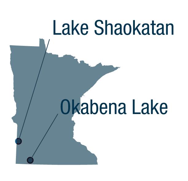 Lake Shaokatan and Okabena Lake
