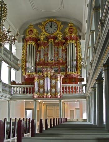 1724 Kastens; 1995 Lund organ at Garnisons Kirke, Copenhagen, Denmark