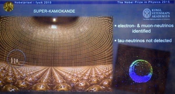 Neutrino detector illustration