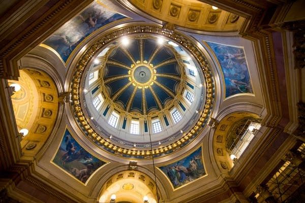 The inside of the Capitol Dome.