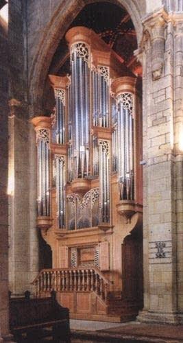1996 Saint-Martin organ at the Collegiale Church in Neuchâtel, Switzerland