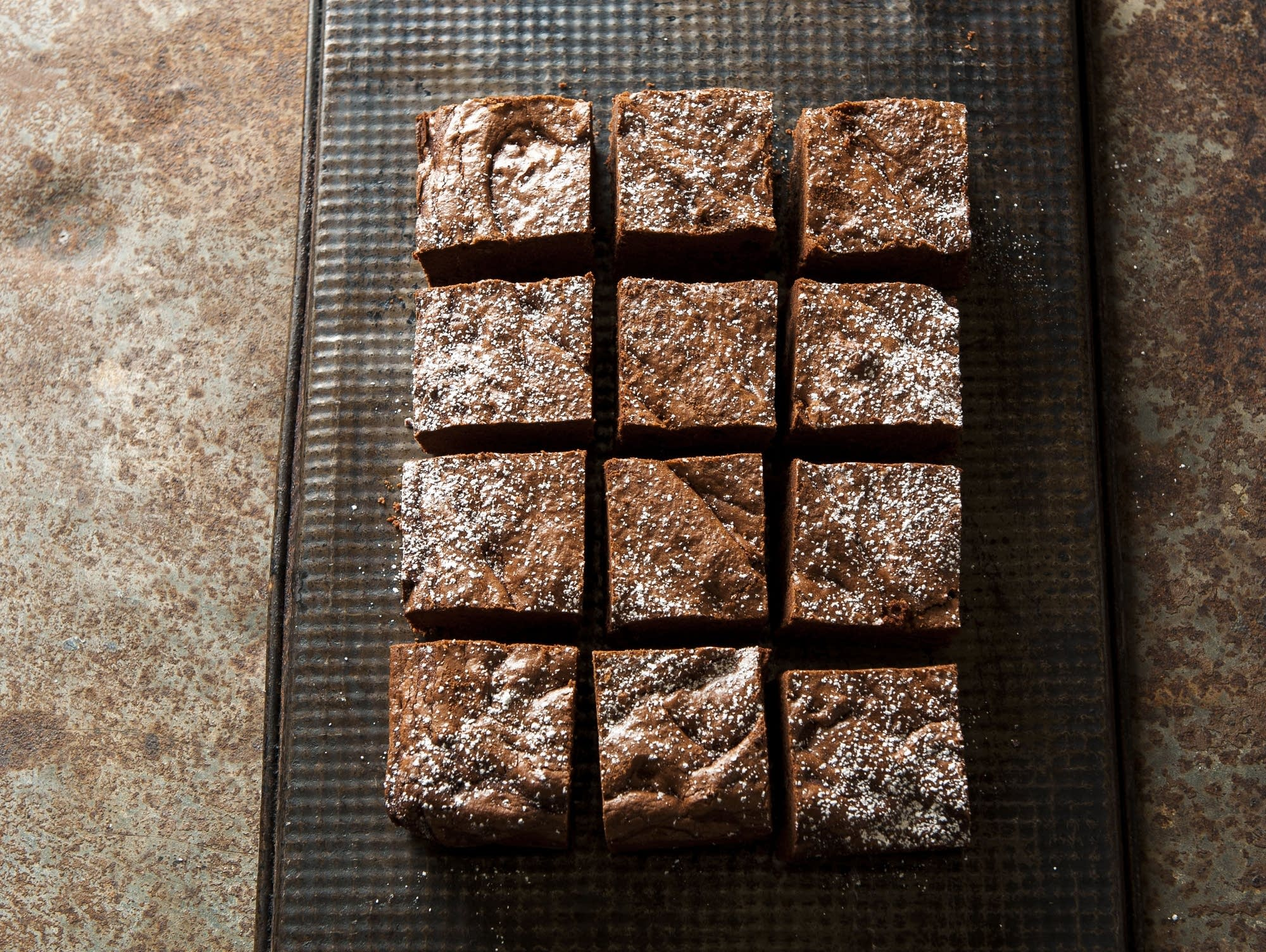 "Very chocolate maple brownies from ""Sweet Nature."""
