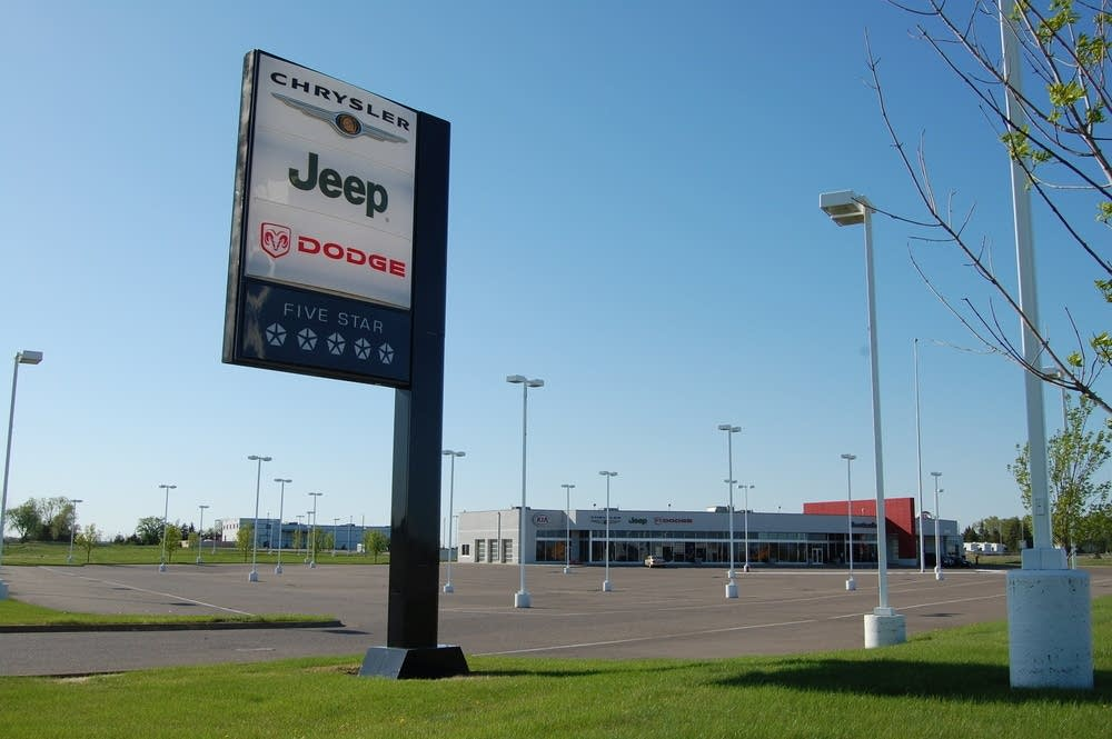 A closed Denny Hecker Dodge dealership