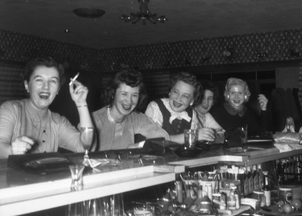 Girls' night out, circa 1956