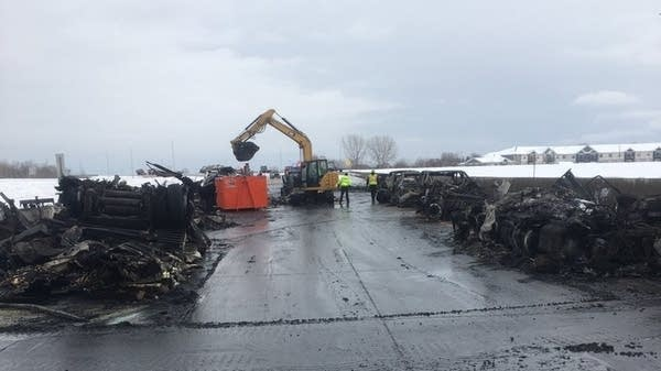A stretch of Interstate 94 closed as cleanup continues after a major crash