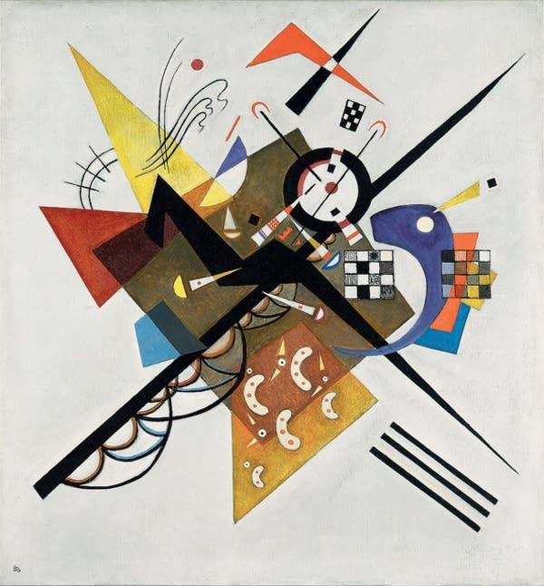Wassily Kandinsky (Russian, 1866 - 1944) On White