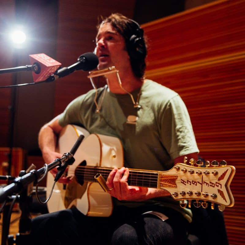 G. Love performs in The Current studio
