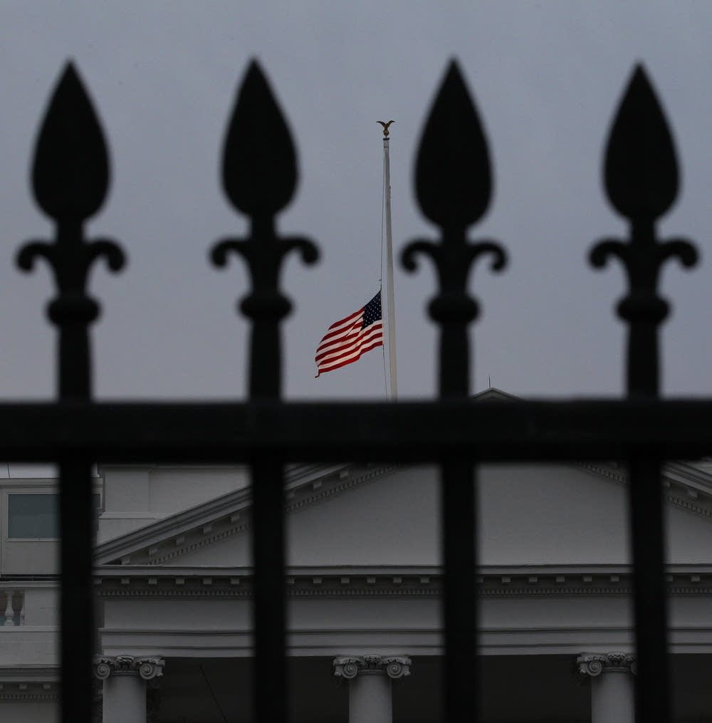 White House flag at half staff