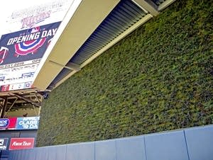Opening day for the Minnesota Twins will feature a living wall.