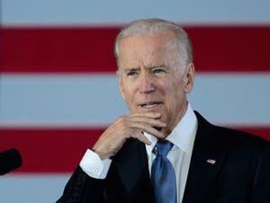 Biden speaks at the Union Depot in St. Paul.