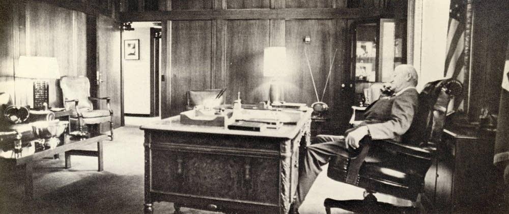 Jack Sverdrup in his office