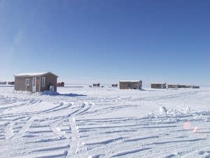 Ice fishing houses on Lake Mille Lacs