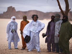 The Tuareg band Tinariwen performs