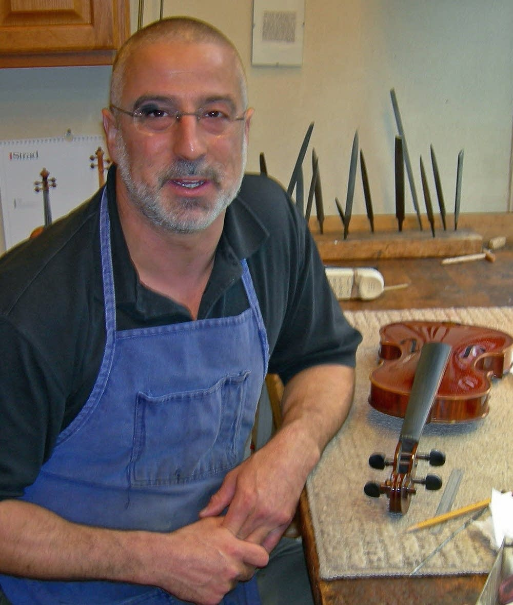 Andy Fein at his workbench
