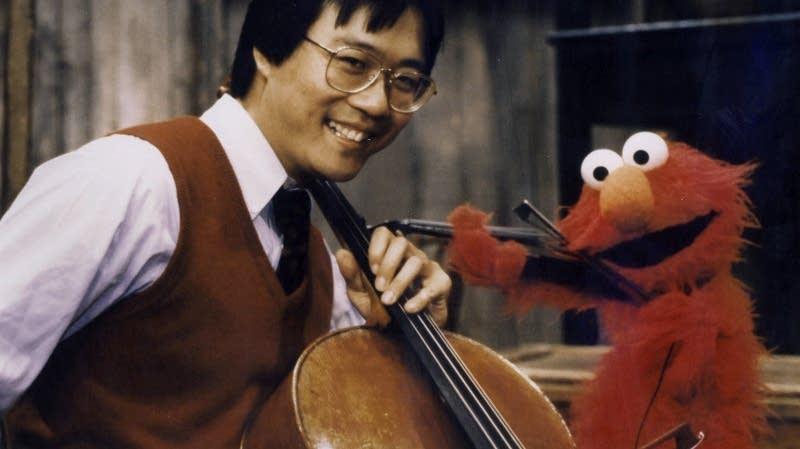 Yo-Yo Ma with Elmo on Sesame Street