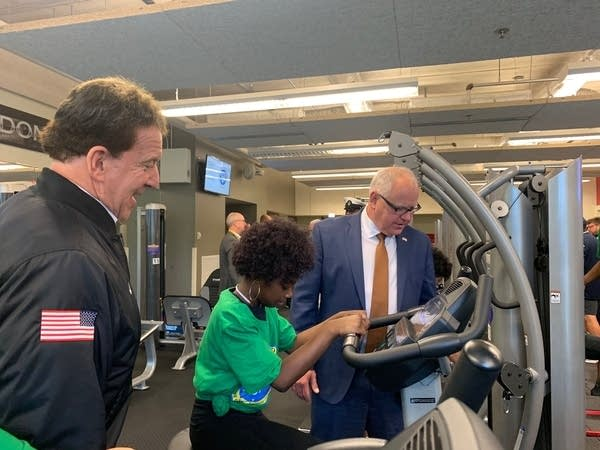 Governor Walz opens exercise center at school