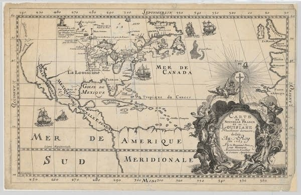 Hennepin's map of New France, 1683
