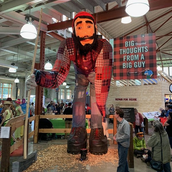 A Paul Bunyan statue at the Minnesota State Fair