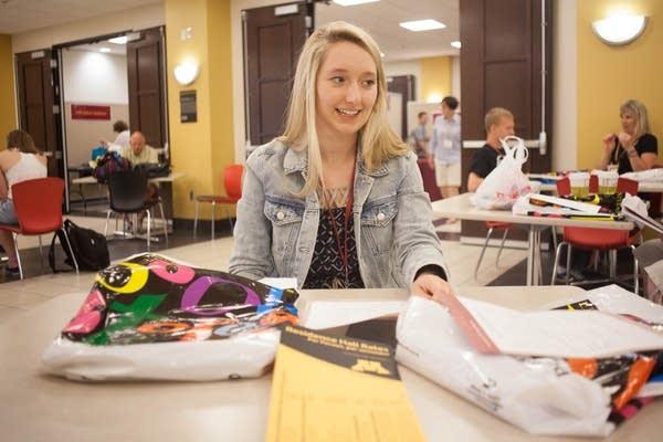 Emma Mellgren at the U's orientation