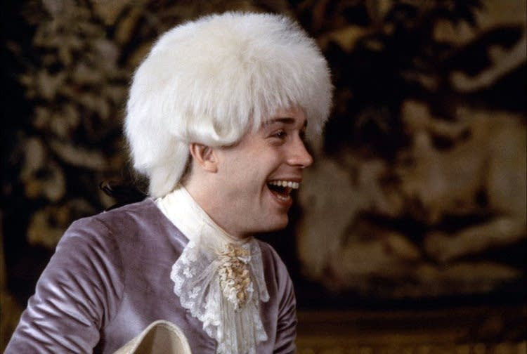 "Tom Hulce as Mozart in ""Amadeus"""